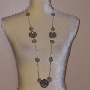 New Long Silver Statement Crystal Shaker Necklace